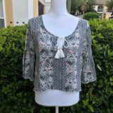 HOLLISTER Women's Southwest Style Boho Chic Top, Size Medium