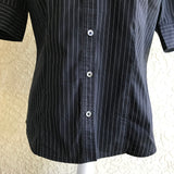 EXPRESS Women's Black Pin Stripe Button Down Career Top, Size 12