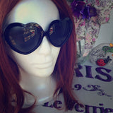 Vintage Style Retro Black Heart Shaped Sunglasses