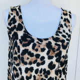 Charlotte Russe Leopard Print Top, Size M