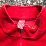 MERRY BRIGHT Women's Red Christmas Holiday Velour Zip Front Top Shirt, Size 1X