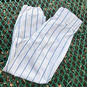 ALLESON ATHLETIC Gray & Blue Striped Baseball Pants, Size Youth Medium
