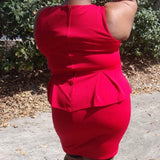 Bisou Bisou Michelle Bohbot Red Dress, Size 16W