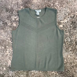 CO & EDDY Women's Knit Mint Green Sleeveless Top, Size L