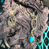 "Vintage CELEBRITY SIGNED Costume Gold Tone 24"" Matinee Necklace"