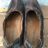 NATURAL SOUL BY NATURALIZER Women's SIZE 8M Brown Leather Man Made Flat Shoes