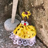 "Artisan Handcrafted African Doll 3""  Key Chain"