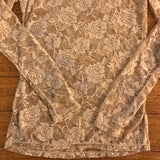 COLOR STORY Women's Floral Stretch Top, Size M