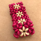 Artisan Crafted Fuchsia Wooden Beaded Stretch Bracelet