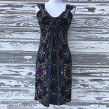 LONDON TIIMES Women's Size 4 Paisley Print Stretch Shift Dress