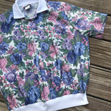 ACT III VINTAGE 1980's Women's Size Large Floral Short Sleeve Blouse