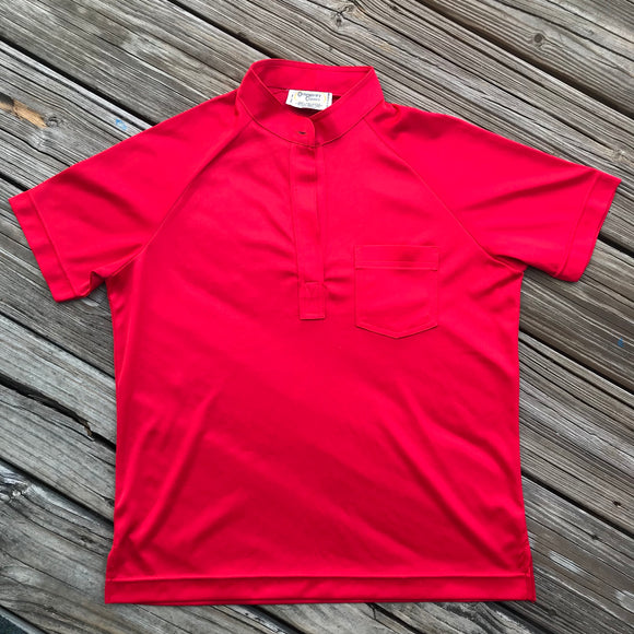 CONTEMPORARY CLASSICS VINTAGE 1970 Women's Size Large Red Short Sleeve Shirt
