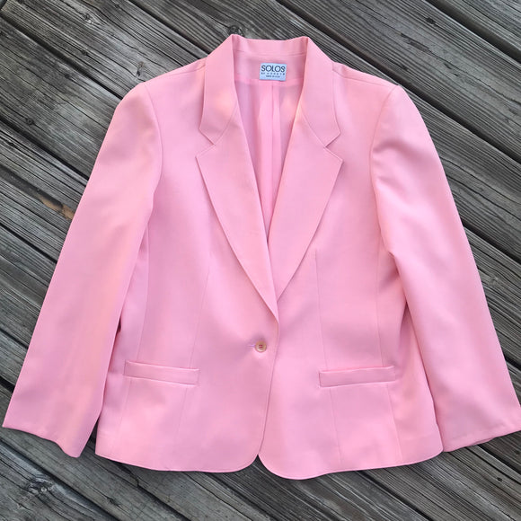 SOLOS BY KORET Vintage Women's APPROXIMATE SIZE Large NO TAG Pink Blazer