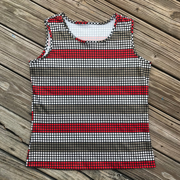 JON ALBERT VINTAGE Women's Size 16 1970 Polka Dot Retro Sleeveless Shirt