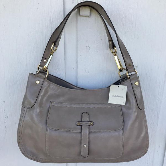 LIZ CLAIBORNE Women's Medium Gray Satchel 14