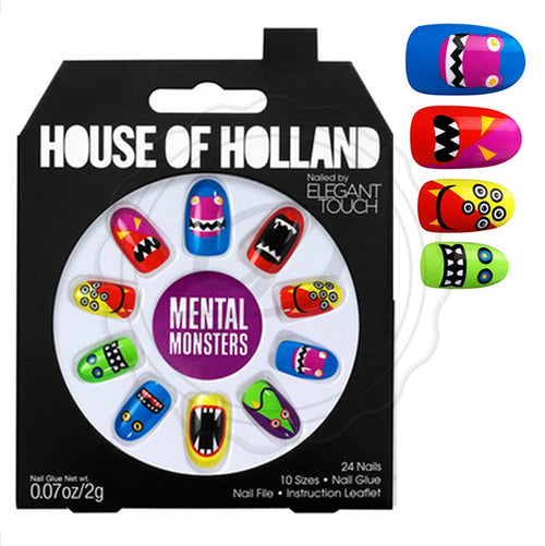 Mental Monsters - House Of Holland False Nails - Ditzy Doll