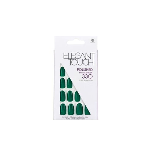 Bottle Green - Elegant Touch False Nails - Ditzy Doll