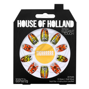 House Of Holland False Nails - Tigrrrrrr - Ditzy Doll
