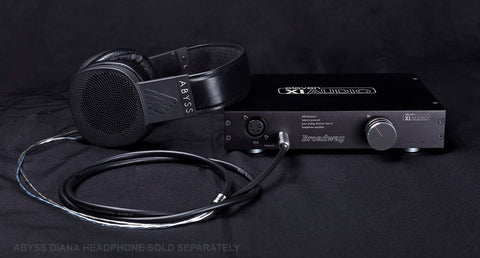 Xi Audio Broadway battery amplifier with Abyss Diana headphone