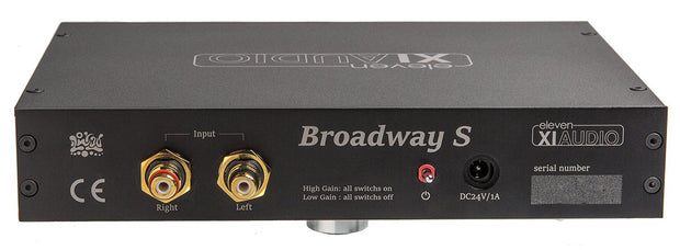 Broadway S by Eleven Audio XIAUDIO Ultra Low Noise Battery Headphone Amplifier