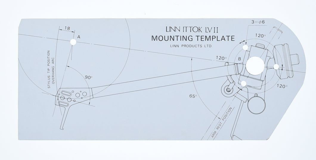 Ittok LV II Mounting Template  (Preowned, Ref 001456)