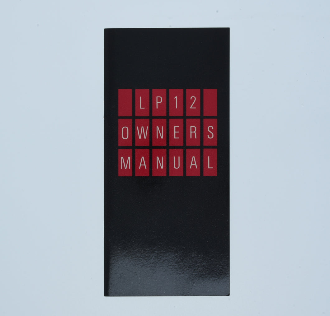 LP12 Manual  (Preowned, Ref 001217-13)