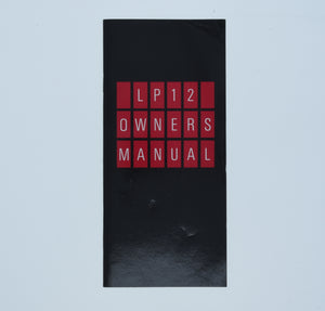 LP12 Manual  (Preowned, Ref 001217-14)