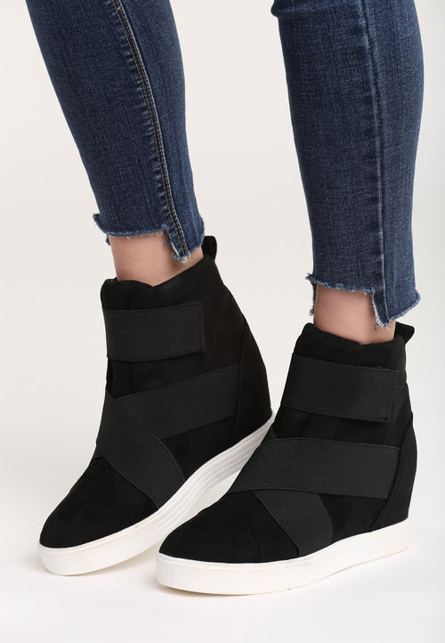 Ruth Wedge Sneaker - Black