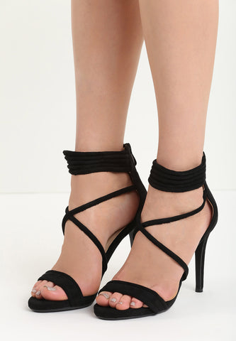Susan High Heel Sandal - Black