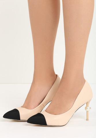 Julie High Heel Pump - Beige
