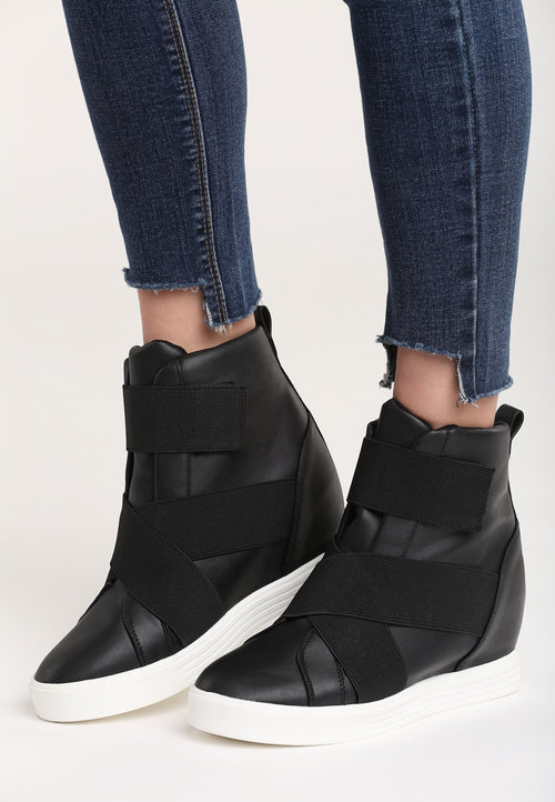 Carol Wedge Sneaker - Black