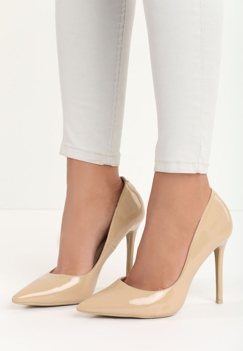 Amanda High Heel Pump - Beige