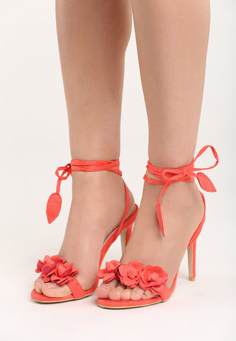 Sharon High Heel Sandal - Orange