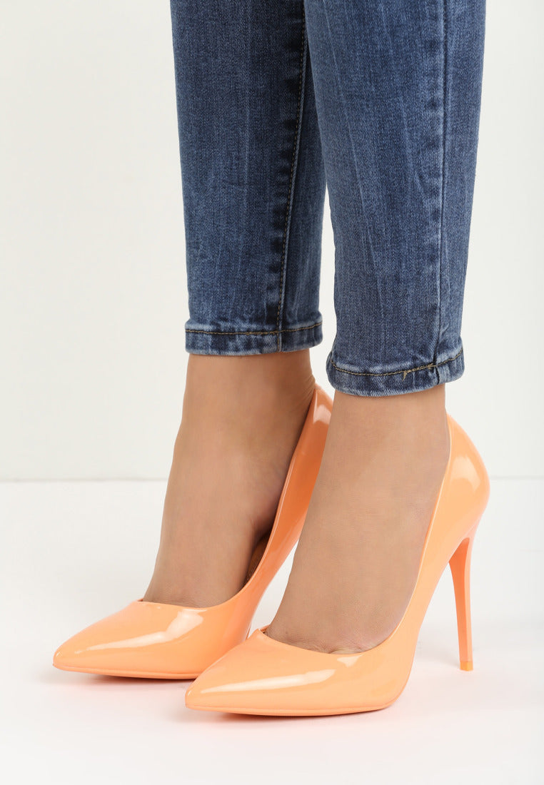 Tina High Heel Pump - Orange