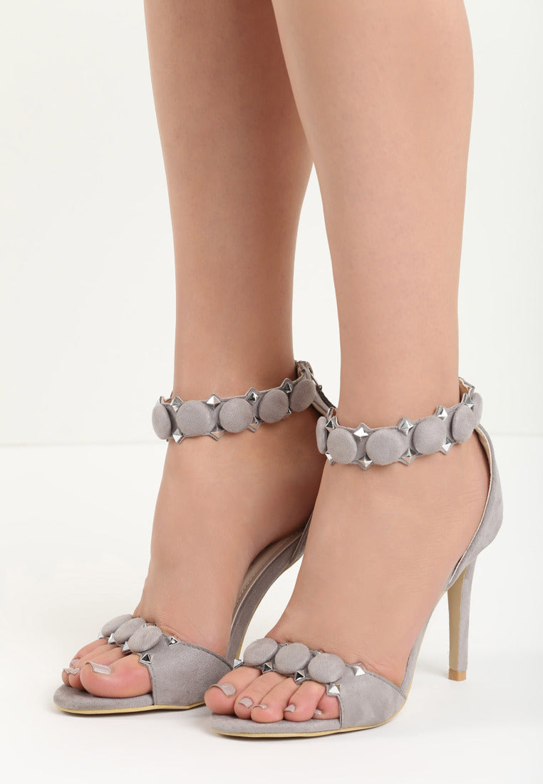 Christina High Heel Sandal - Grey