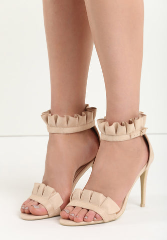 Betty High Heel Sandal - Beige