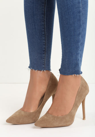 Evelyn High Heel Pump - Grey