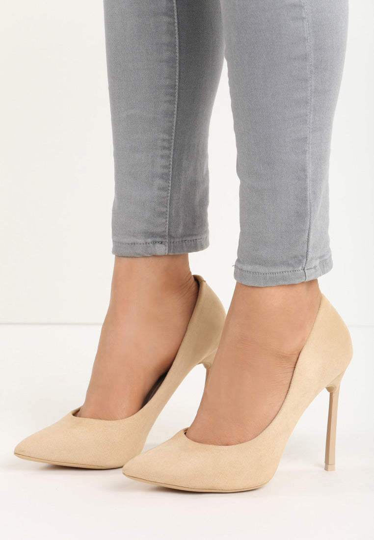 Catherine High Heel Pump - Beige