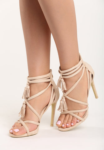 Sarah High Heel Sandal - Grey