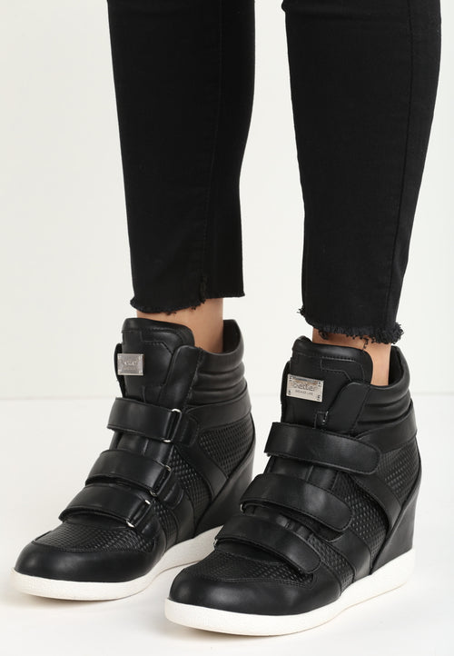 Annie Wedge Sneaker - Black
