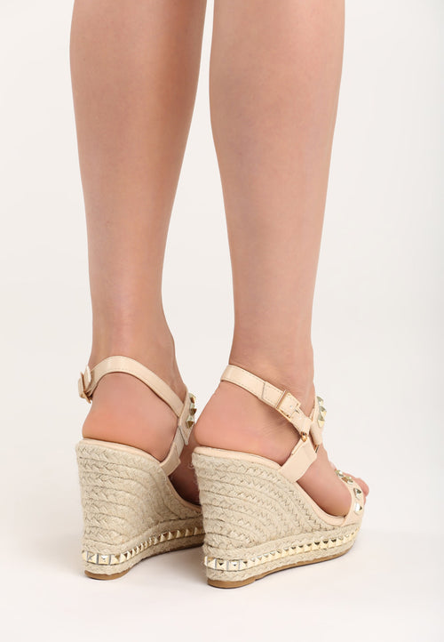 Angela Wedge - Beige, Black, Pink