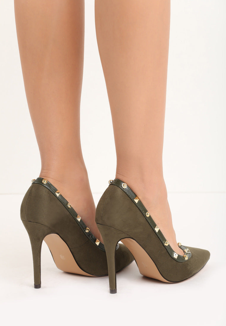 Shirley High Heel Pump - Green
