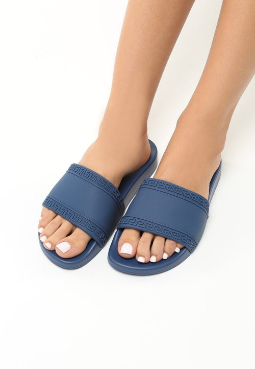 Norma Slipper - Blue