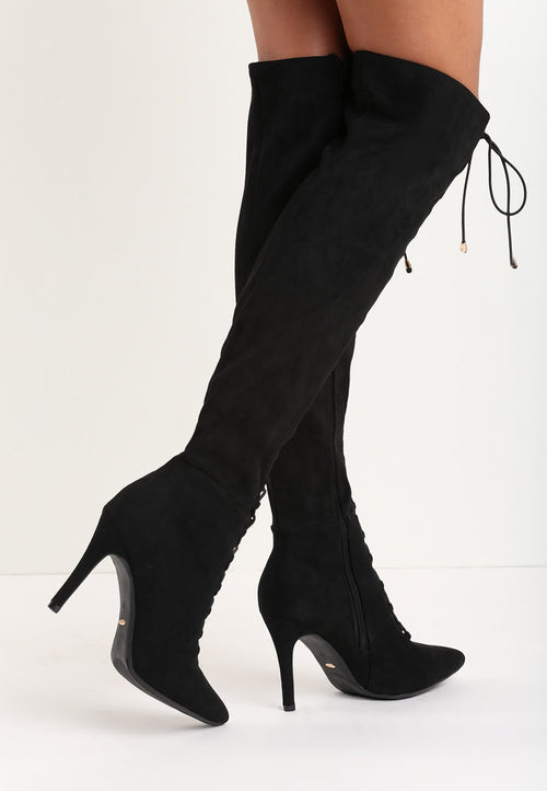 Jennifer Over The Knee Boot - Black