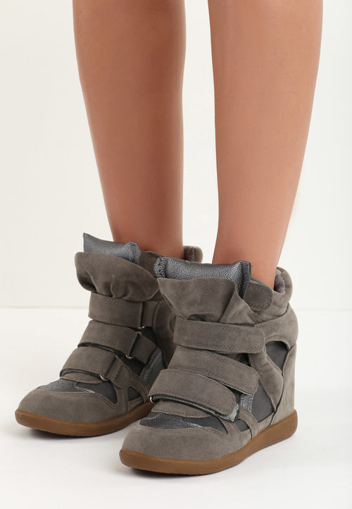 Joan Wedge Sneaker - Dark Grey