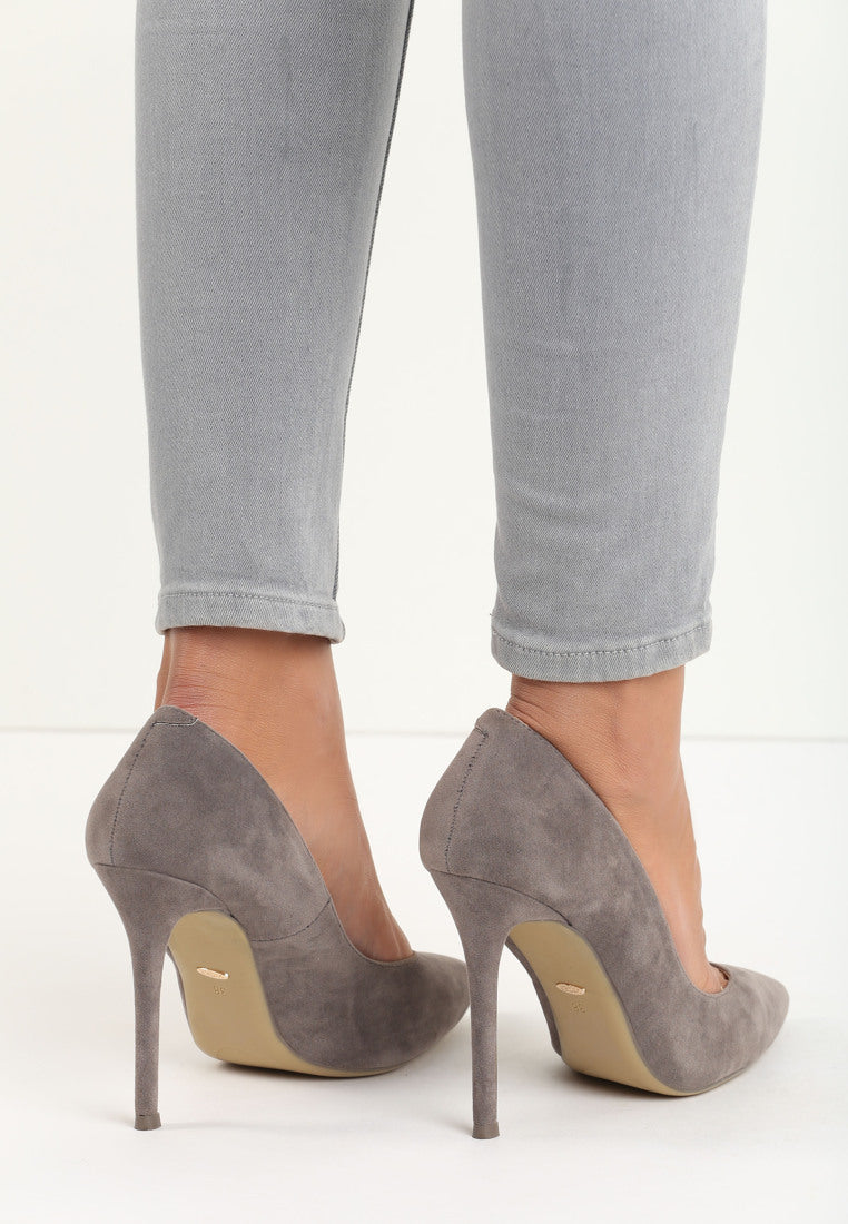 Jean High Heel Pump - Dark Grey