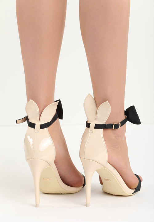 Alice Bunny High Heel Sandal - Beige, Black, Pink