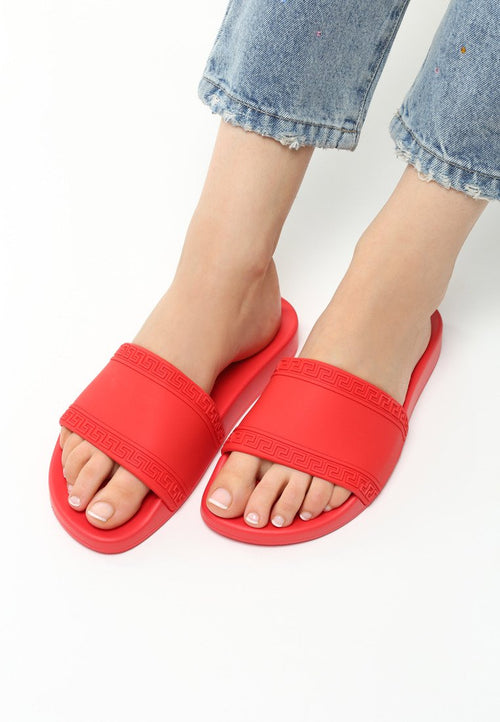 Norma Slipper - Red