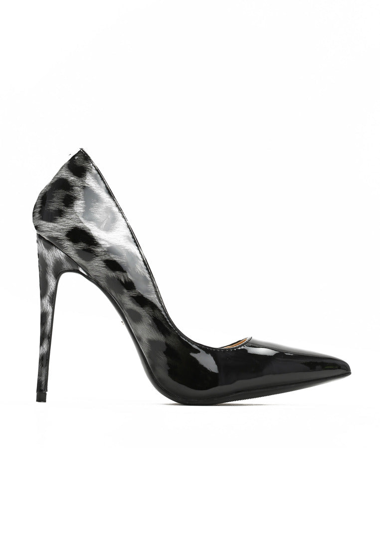 Heather High Heel Pump - Black
