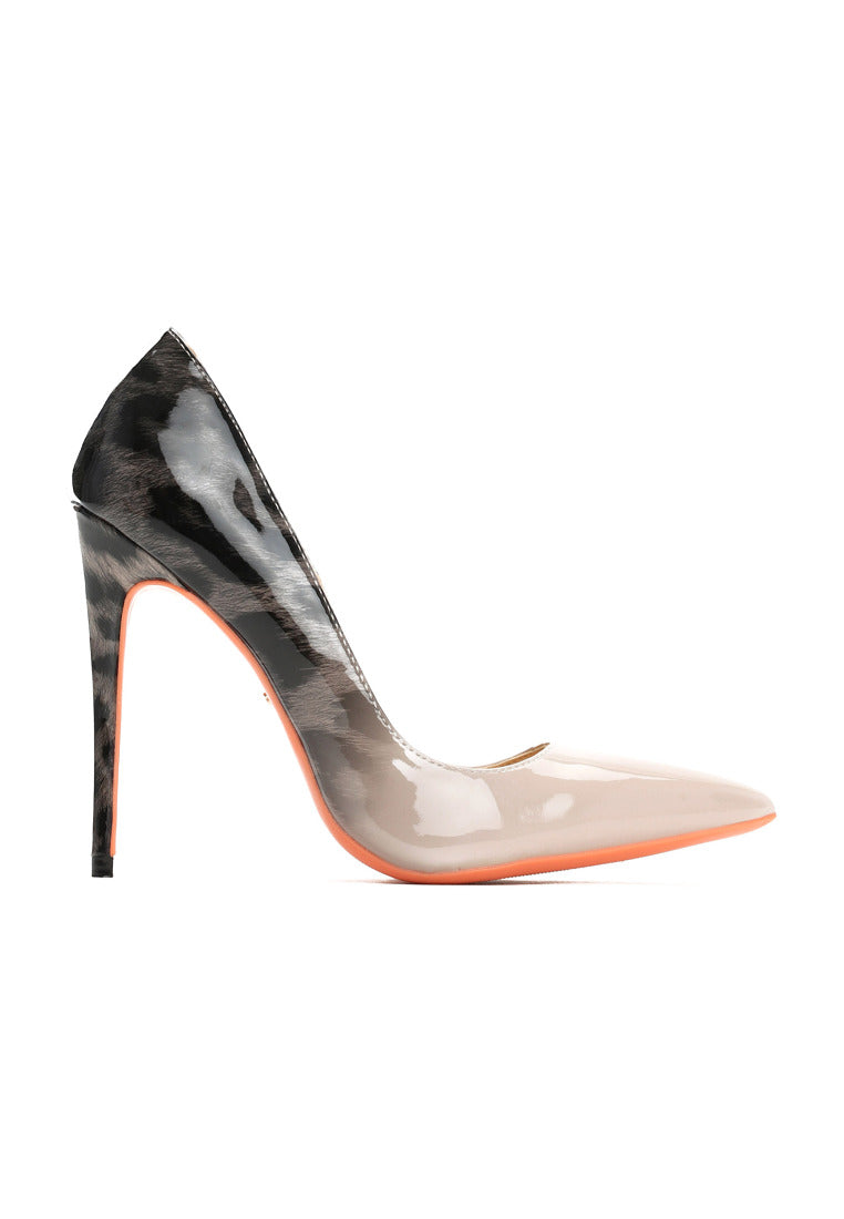 Heather High Heel Pump - Grey